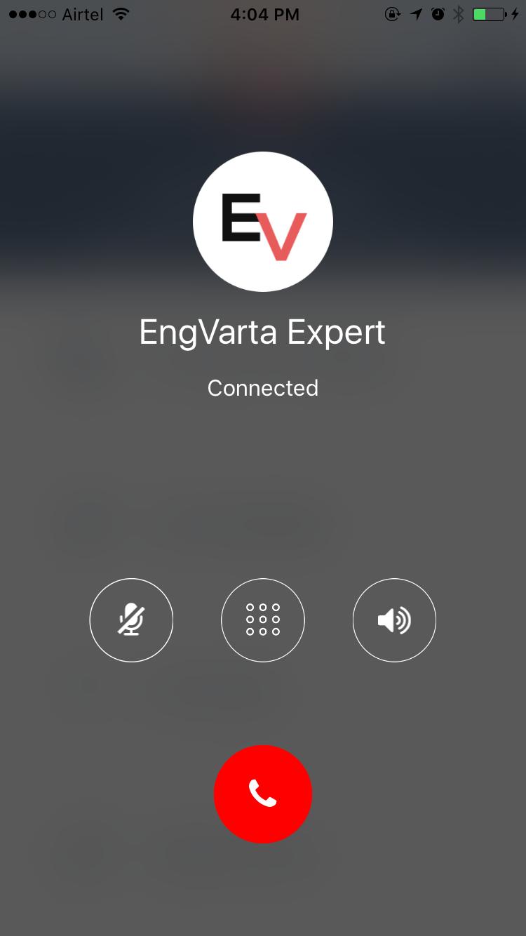 expert call screen